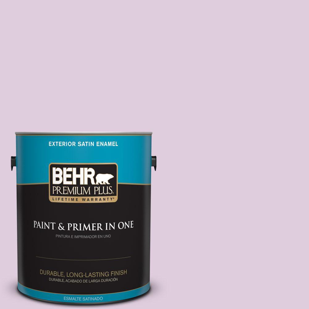 BEHR Premium Plus 1-gal. #M110-2 Cassia Buds Satin Enamel Exterior Paint