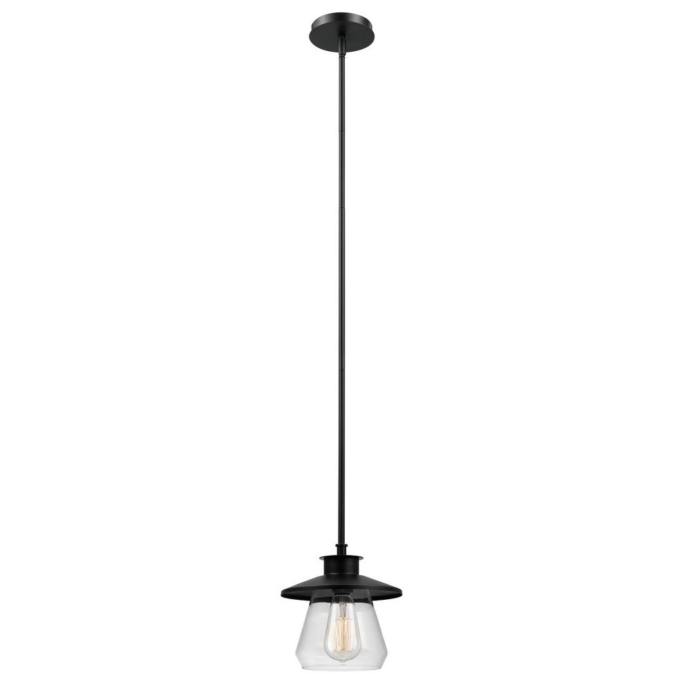 Globe Electric Angelica 1-Light Modern Industrial Oil Rubbed Bronze Pendant
