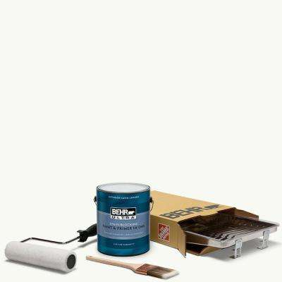 1 gal. #PPU18-06 Ultra Pure White Ultra Satin Enamel Interior Paint and 5-Piece Wooster Set All-in-One Project Kit