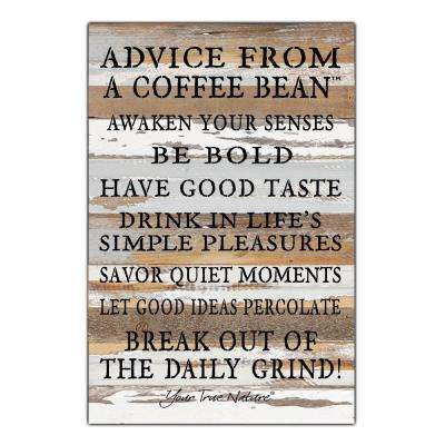 """From A Coffee Bean"" Reclaimed Wood Decorative Sign"