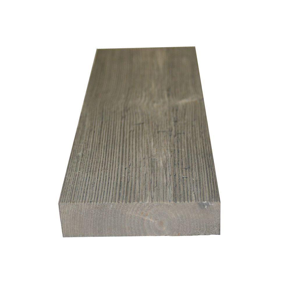 null 1 in. x 4 in. x 8 ft. Barn Grey #2 and Better Pine Windswept Trim Board (9-Piece/Box)