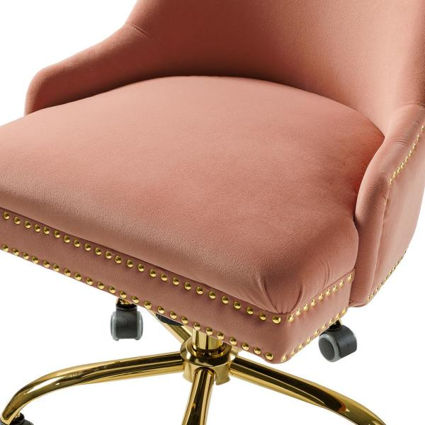 Jayden Creation Bella Pink Nailhead Swivel Task Chair Ofm0003 Pink The Home Depot