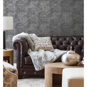 Beacon House 56.4 sq. ft. Cartography Pewter Vintage World Map Wallpaper by Beacon House