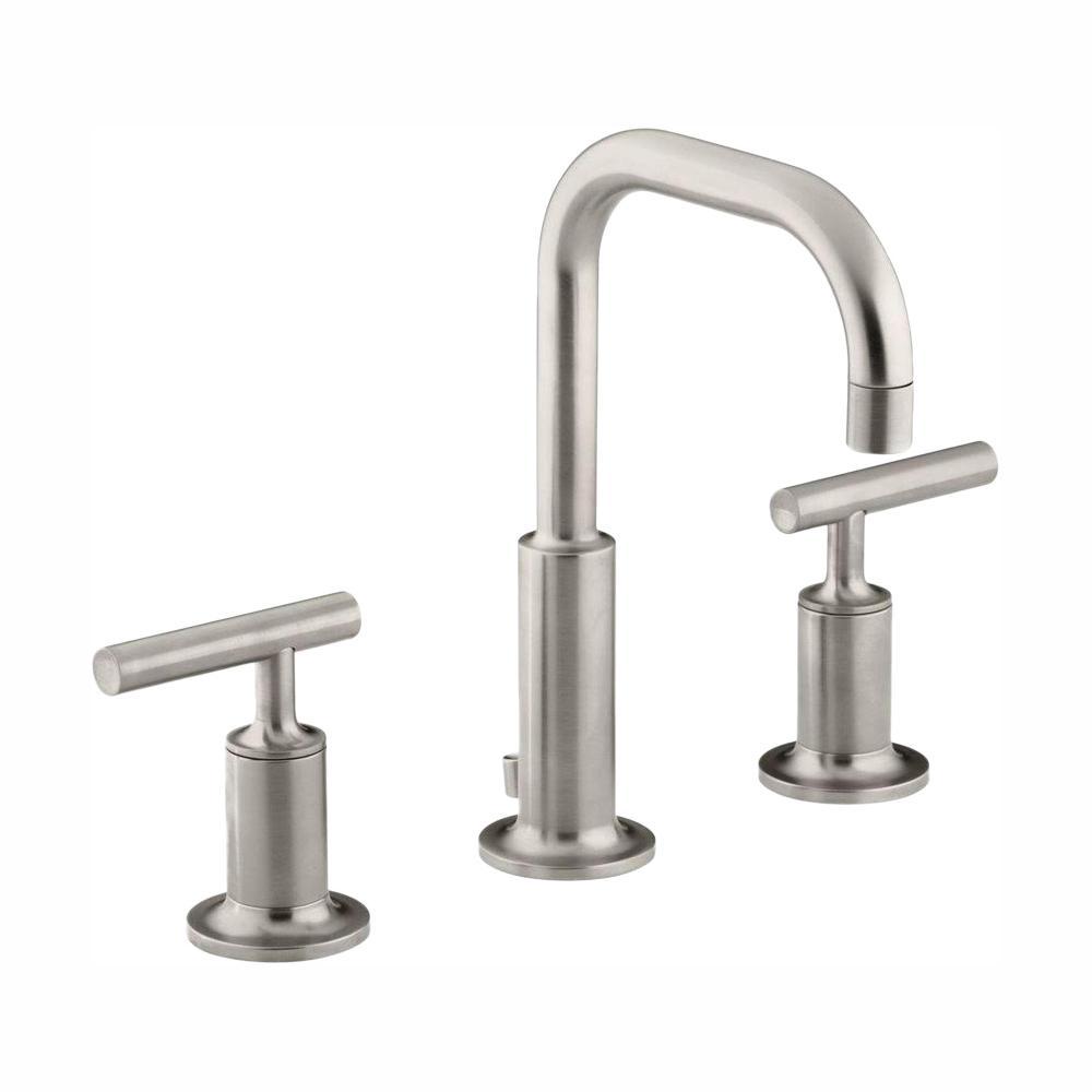 Purist 8 in. Widespread 2-Handle Water-Saving Bathroom Faucet in Vibrant Brushed Nickel