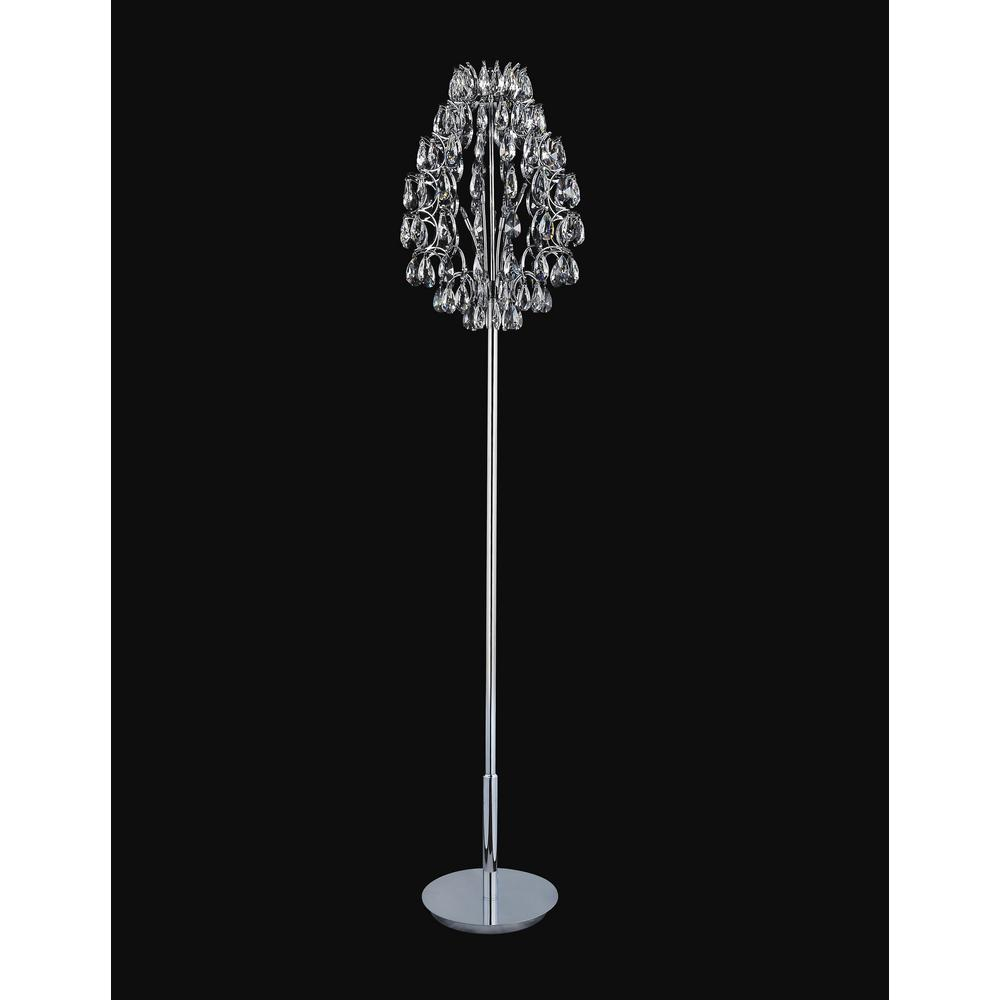 CWI Lighting Charismatic 65 in. Chrome Floor Lamp