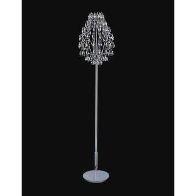 Charismatic 65 in. Chrome Floor Lamp
