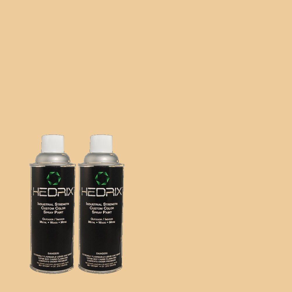 Hedrix 11 oz. Match of PPU4-15 Jasper Cane Semi-Gloss Custom Spray Paint (2-Pack)