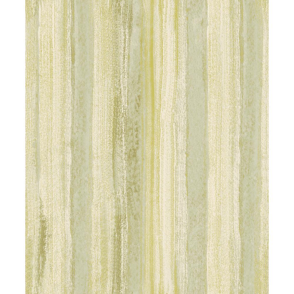 57 8 Sq Ft Donella Green Stripe Wallpaper