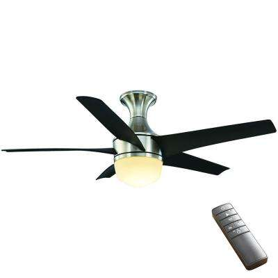 Tuxford 44 in. LED Indoor Brushed Nickel Ceiling Fan with Light Kit and Remote Control