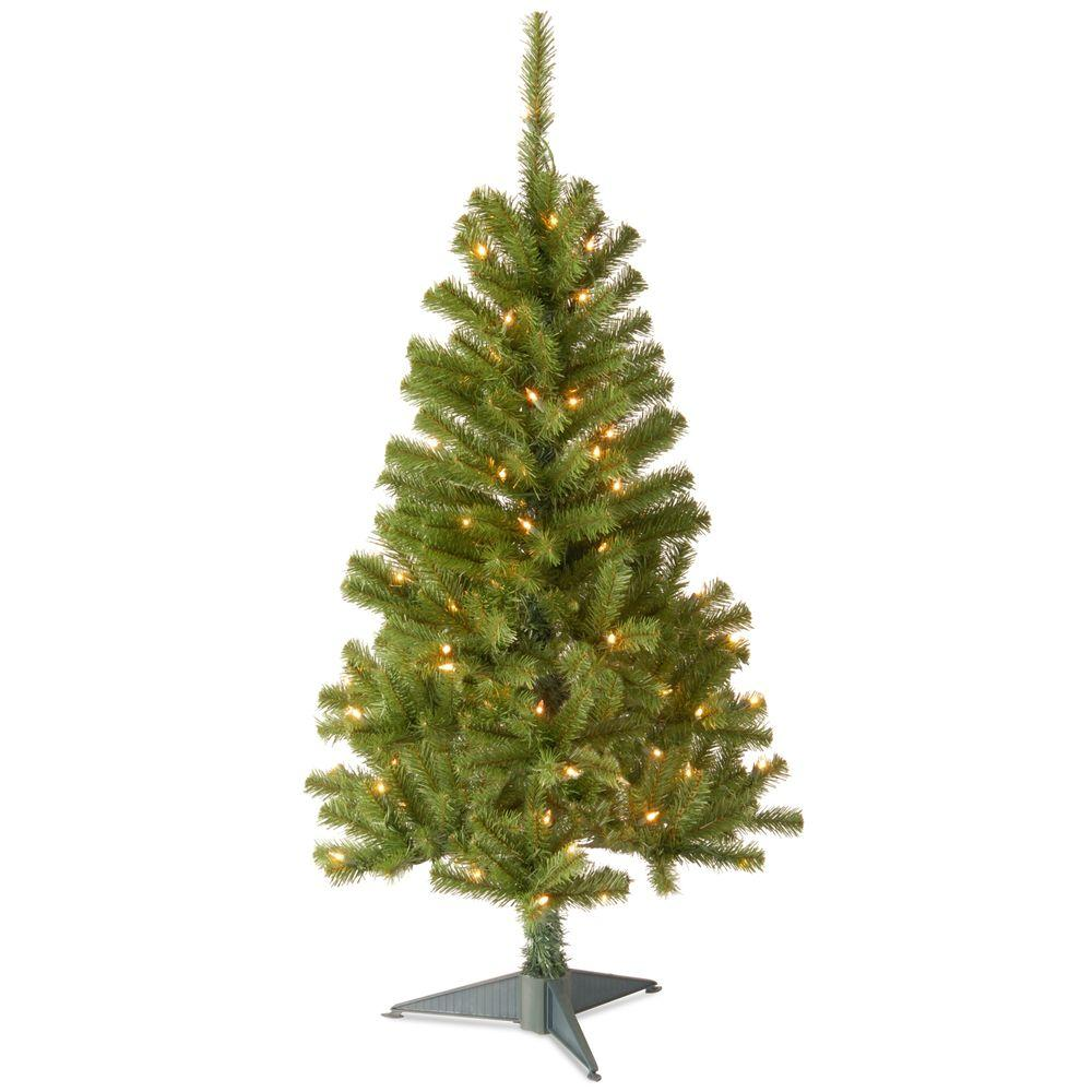 4 ft. Canadian Grande Fir Artificial Christmas Tree with Clear Lights