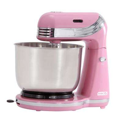 Everyday 3 Qt. Pink 6-Speed Stand Mixer
