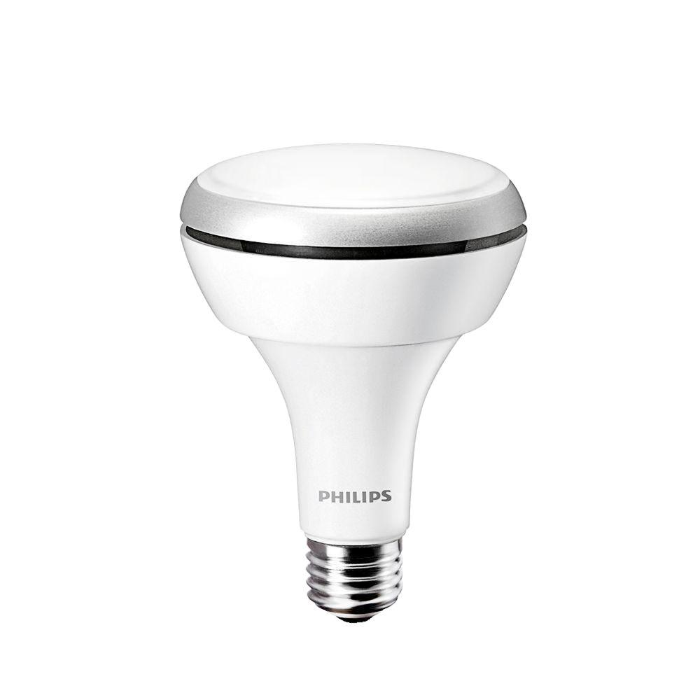 Philips 65W Equivalent Daylight (5000K) BR30 Dimmable LED Flood Light Bulb (4-pack)