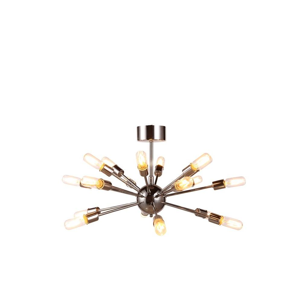 Elegant Lighting Cork 18-Light Polished Nickel Pendant