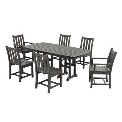 Traditional Garden Slate Grey 7-Piece Patio Dining Set