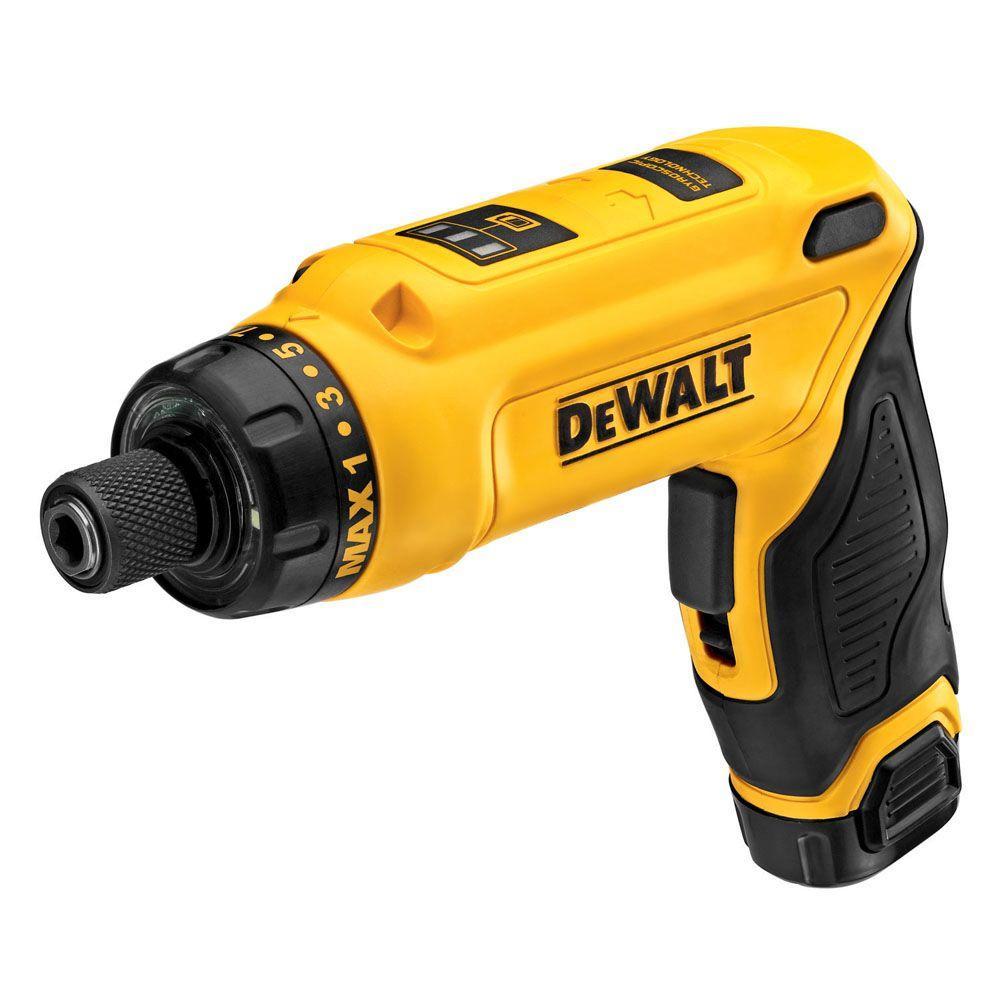 dewalt screwdriver. dewalt 8-volt max lithium-ion cordless gyroscopic screwdriver with adjustable handle battery dewalt p
