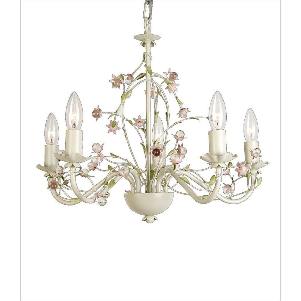 Filament Design Xavier 5-Light White Incandescent Ceiling Pendant