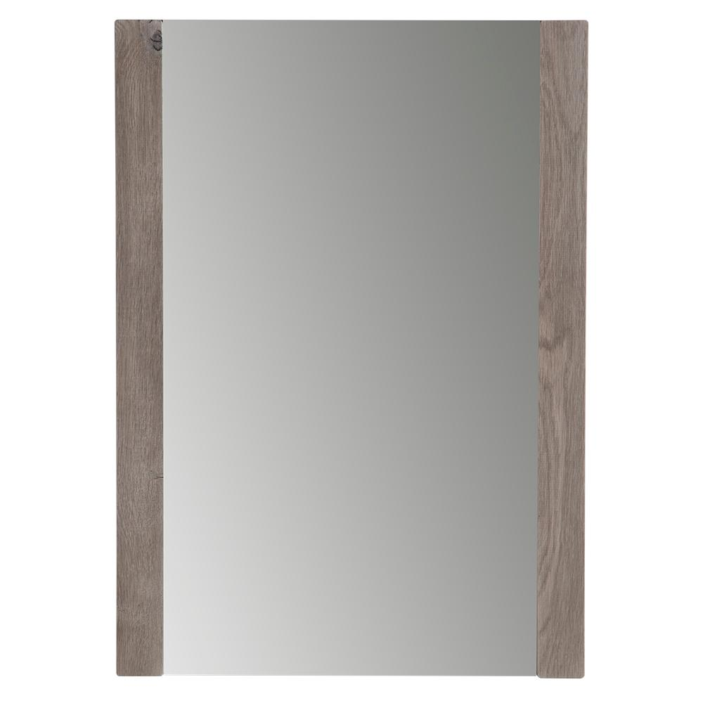 20 in. W x 28 in. H Framed Wall Mirror in