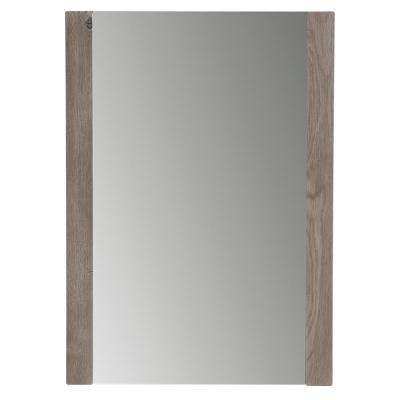 H Framed Wall Mirror In White Washed Oak