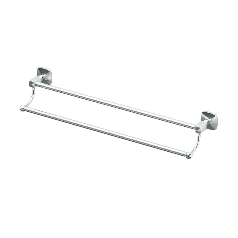 Gatco Jewel 24 in. Towel Bar in Chrome
