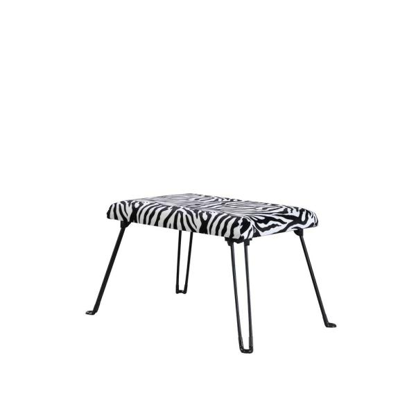 17 in. Zebra Backless Accent Seat with Foldable Legs HB4734