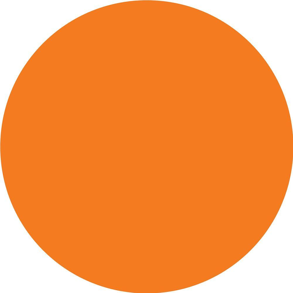WallPOPs 13 in. x 13 in. Totally Orange Dot 10-Piece Wall Decal