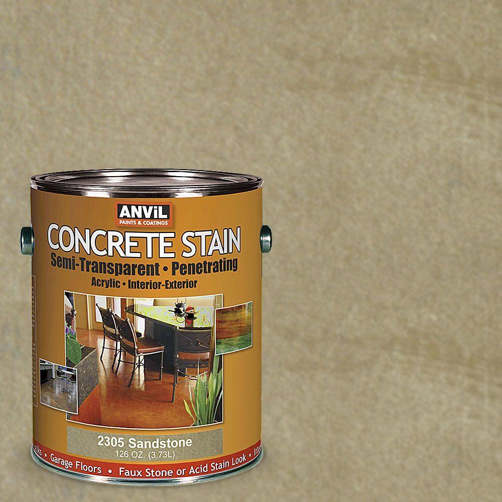 1-gal. Sandstone Semi-Transparent/Translucent Concrete Stain