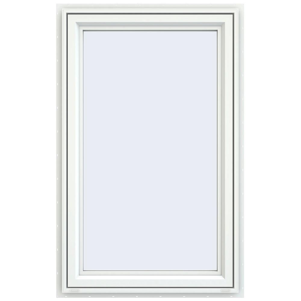 JELD-WEN 29.5 in. x 47.5 in. V-4500 Series Left-Hand Casement Vinyl Window - White