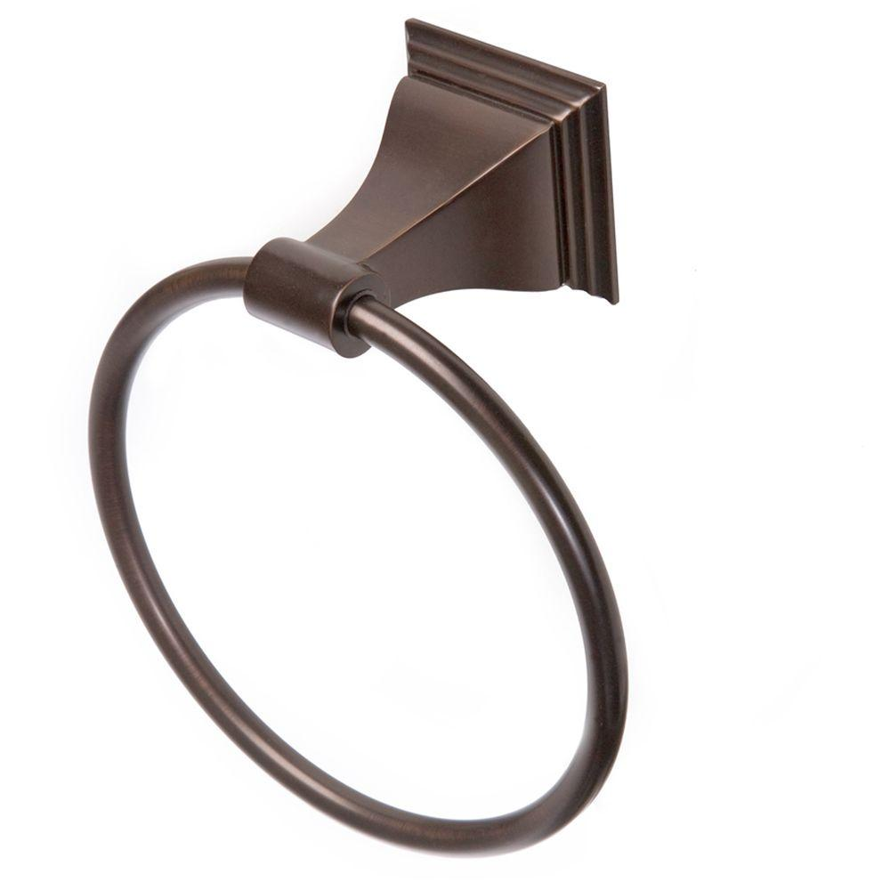 ARISTA Leonard Collection Towel Ring in Oil Rubbed Bronze