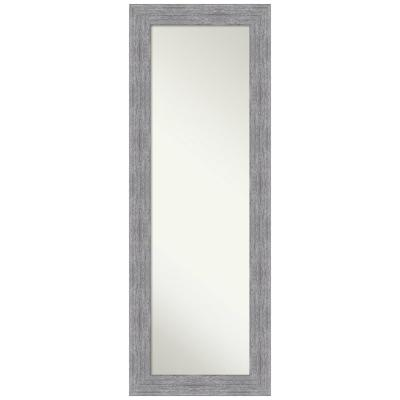 Large Rectangle Distressed Grey Hooks Casual Mirror (53.25 in. H x 19.25 in. W)