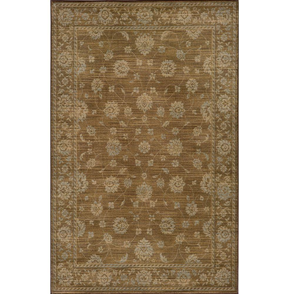 Momeni Buckingham Brown 3 ft. 11 in. x 5 ft. 7 in. Indoor Area Rug