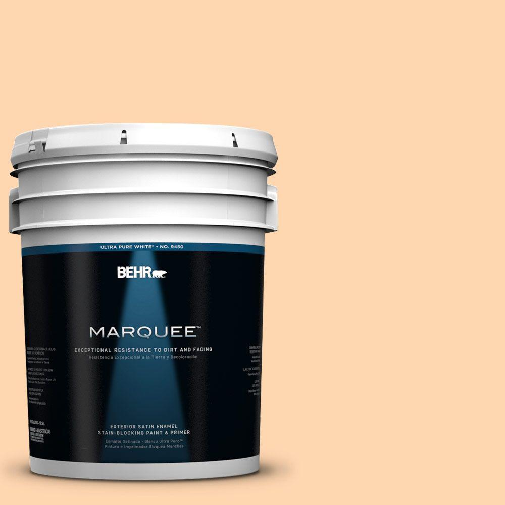 BEHR MARQUEE 5-gal. #280A-3 Delicious Melon Satin Enamel Exterior Paint