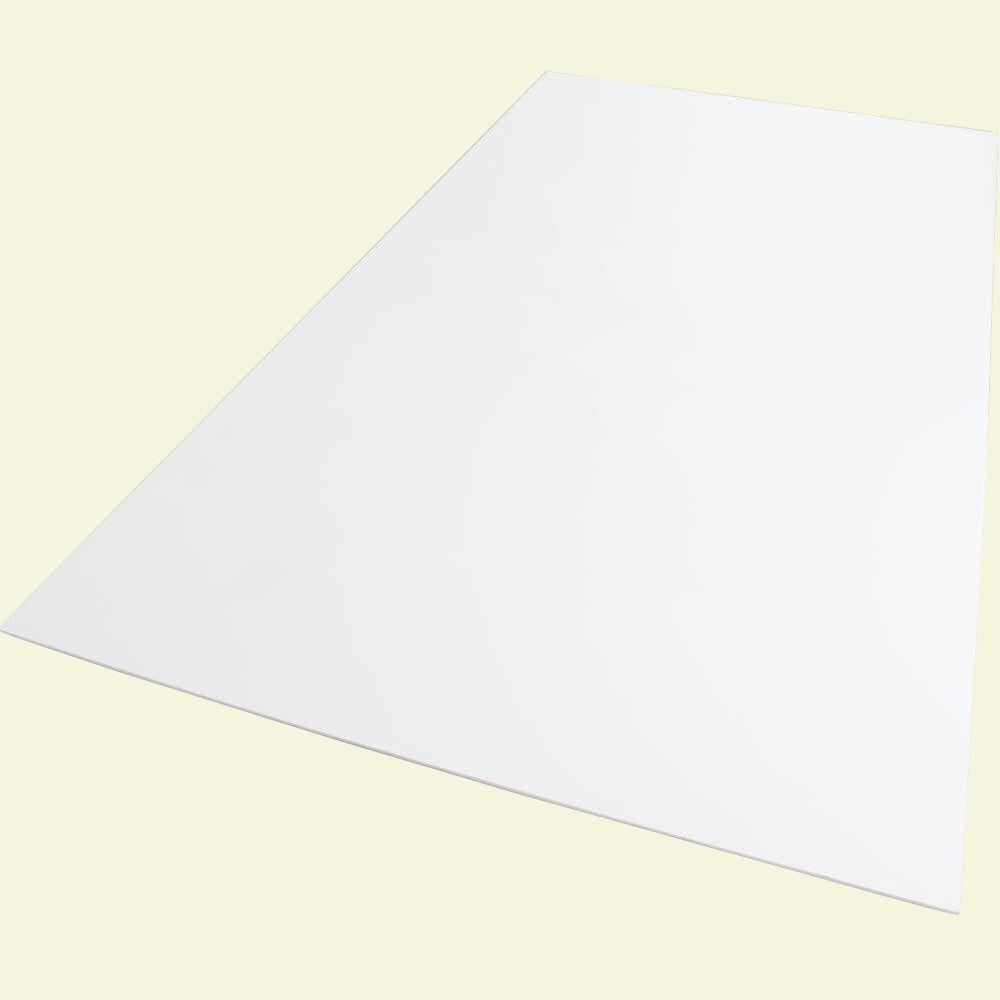 Palight ProjectPVC 12 in. x 12 in. x 0.236 in. Foam PVC White Sheet