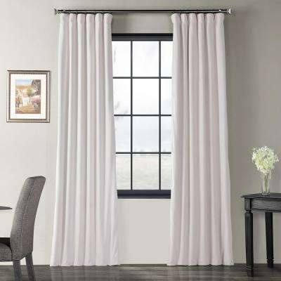 Blackout Signature Off White Blackout Velvet Curtain - 50 in. W x 96 in. L (1 Panel)