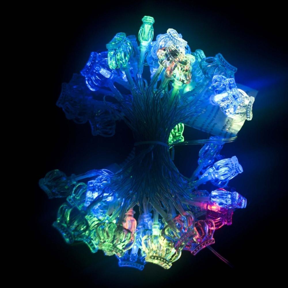 19.5 ft. 50-Light LED Multicolor Electric Powered String Lights
