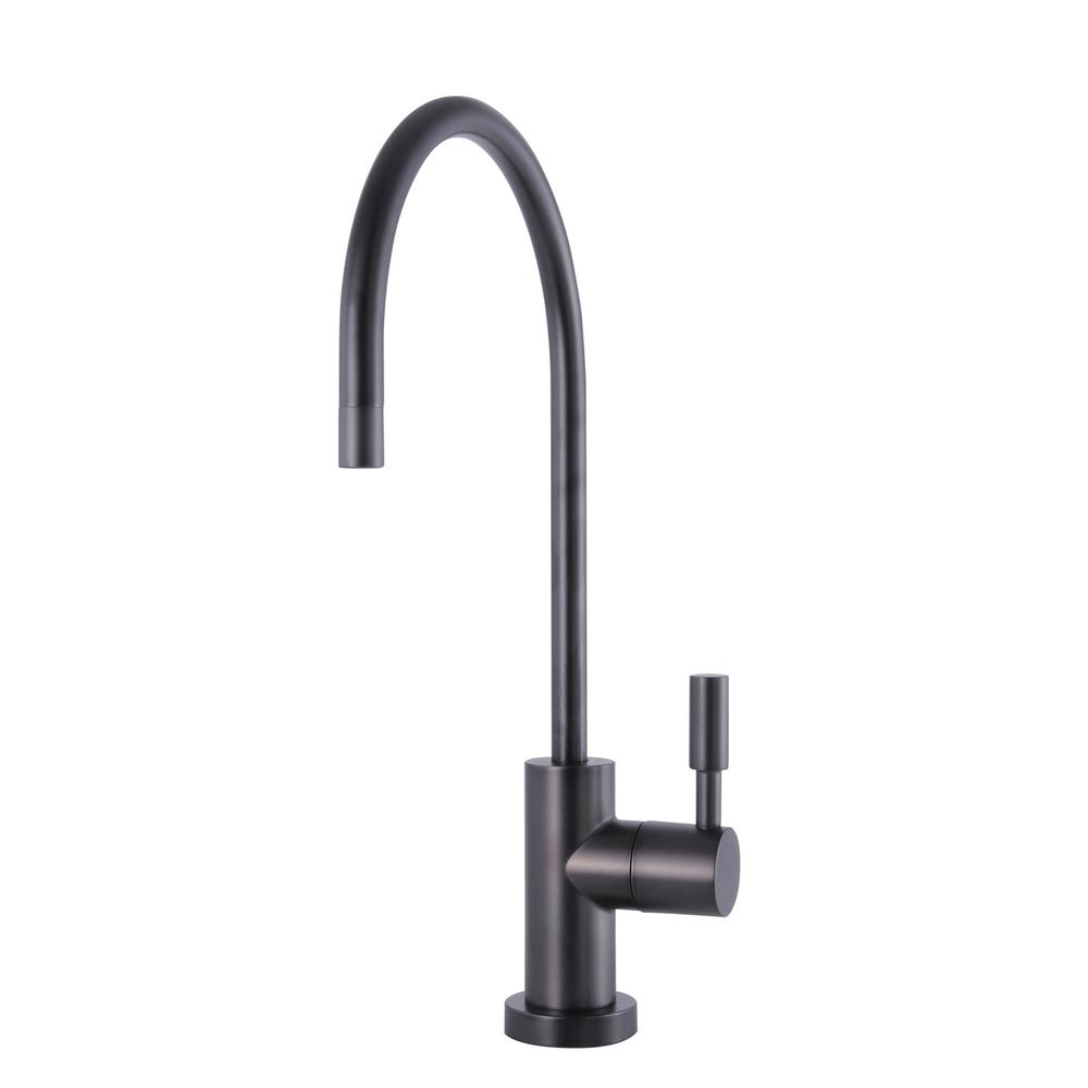 Modern Drinking Water Reverse Osmosis Single-Handle Filtration Faucet in Oil