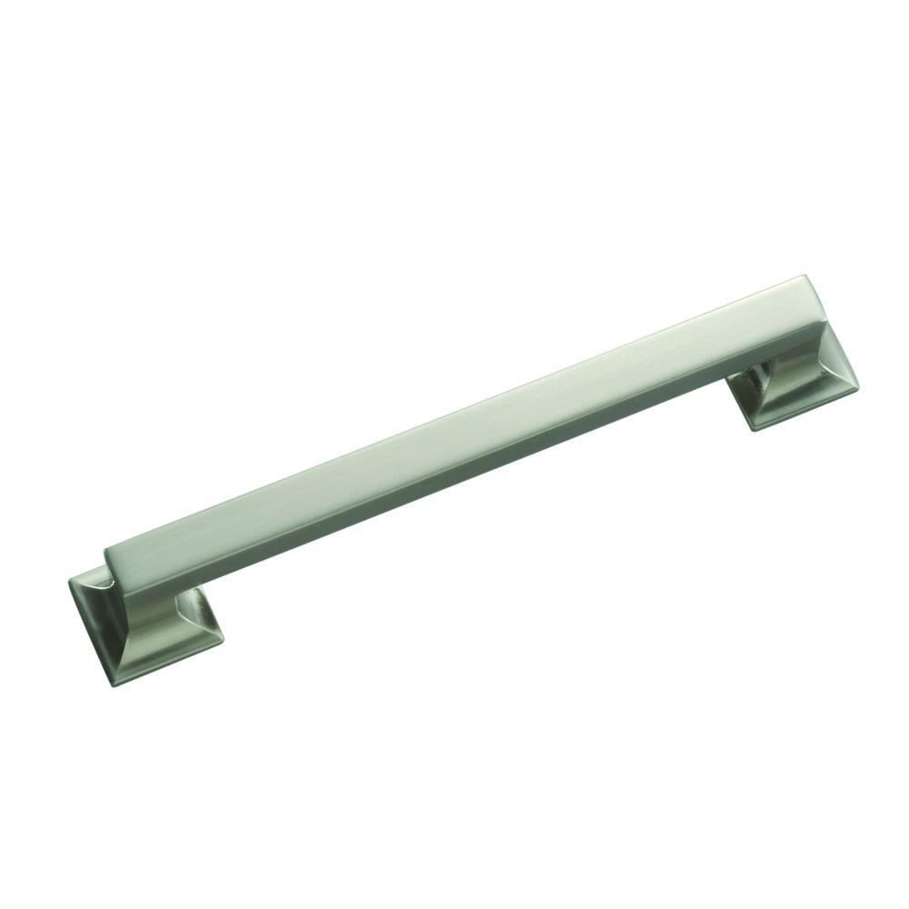 Hickory Hardware Studio Collection 8 in. Satin-Nickel Cabinet Pull ...