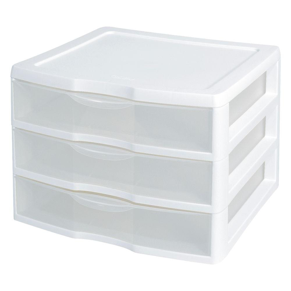 Sterilite Clearview 14 625 In X 10 625 In 3 Drawer