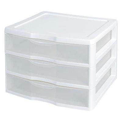 Clearview 14.625 in. x 10.625 in. 3-Drawer Organizer Unit