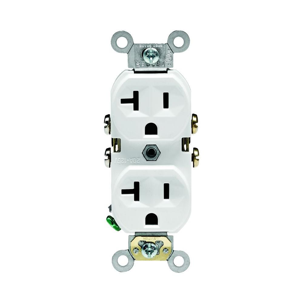 white leviton outlets receptacles m02 cbr20 wmp 64_1000 outlets & receptacles dimmers, switches & outlets the home depot  at edmiracle.co