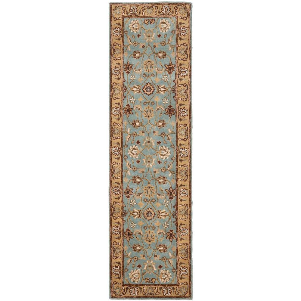 Safavieh Heritage Blue/Gold 2 ft. x 18 ft. Runner Rug