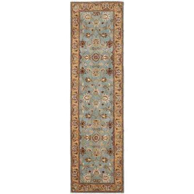 Heritage Blue/Gold 2 ft. x 18 ft. Runner Rug