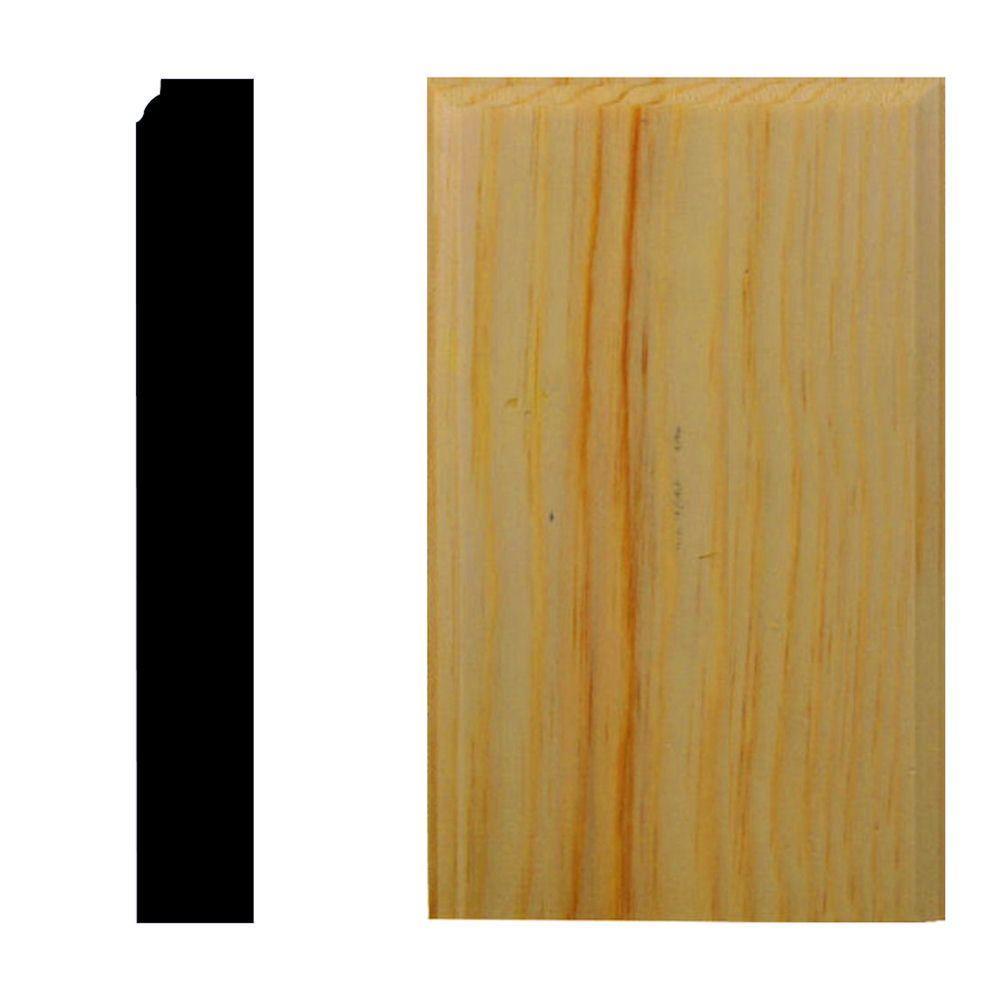 7/8 in. x 3-1/2 in. x 6 in. Pine Plinth Block