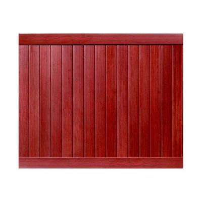 Pro Series 6 ft. H x 8 ft. W Mahogany Vinyl Anaheim Privacy Fence Panel - Unassembled