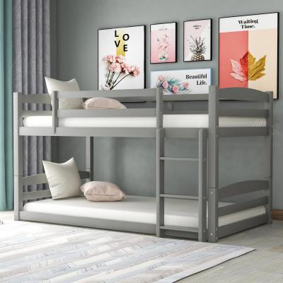 Gray High Quality Twin Over Twin Bunk Bed