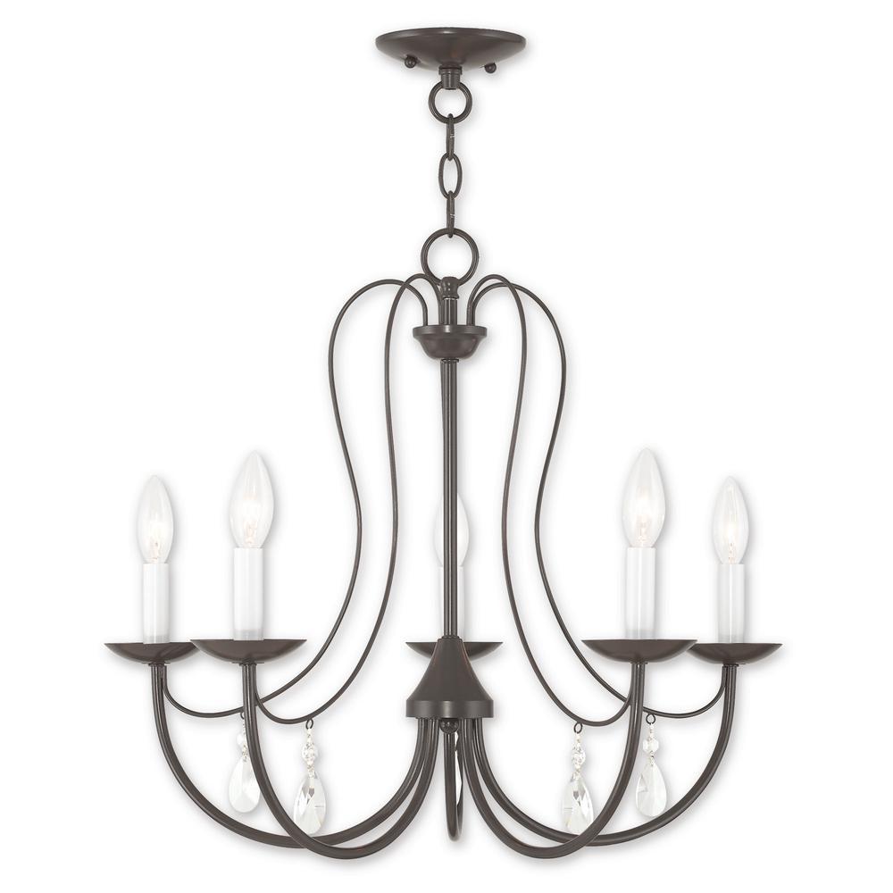 Livex Lighting Mirabella 5-Light English Bronze Chandelier
