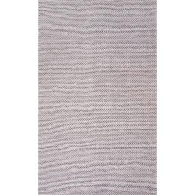 Caryatid Chunky Woolen Cable Light Gray 2 ft. x 3 ft. Area Rug