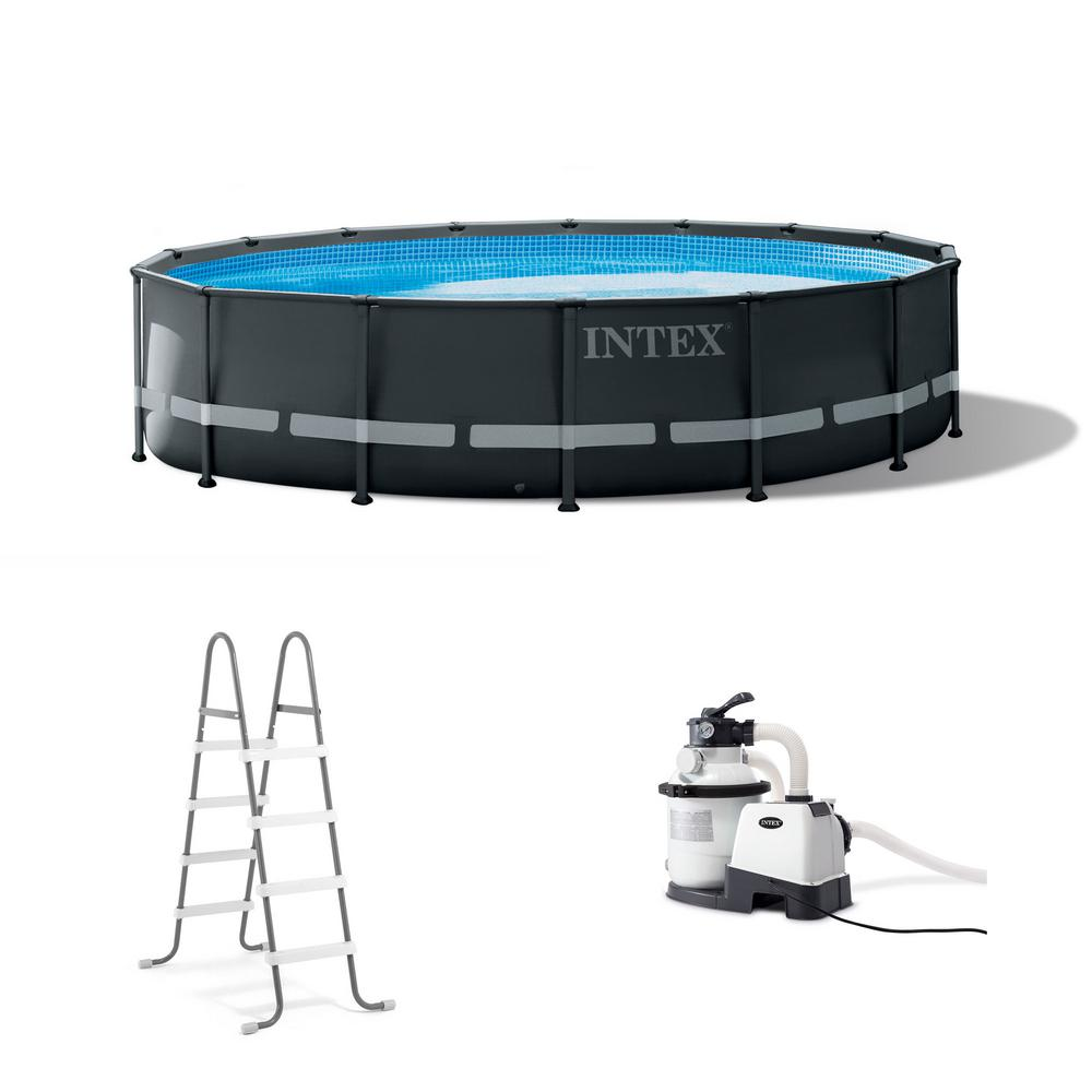 16 ft. x 48 in. Ultra XTR Round Frame Above Ground Swimming Pool Set with  Pump