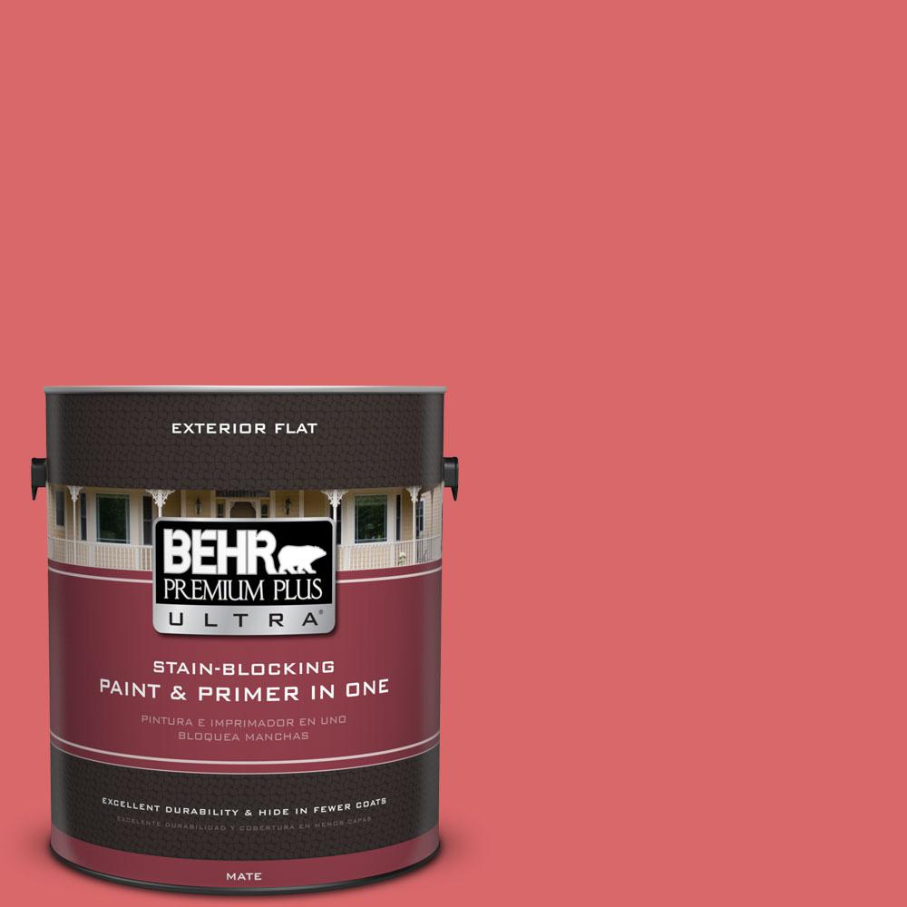 1-gal. #160B-6 Coral Expression Flat Exterior Paint