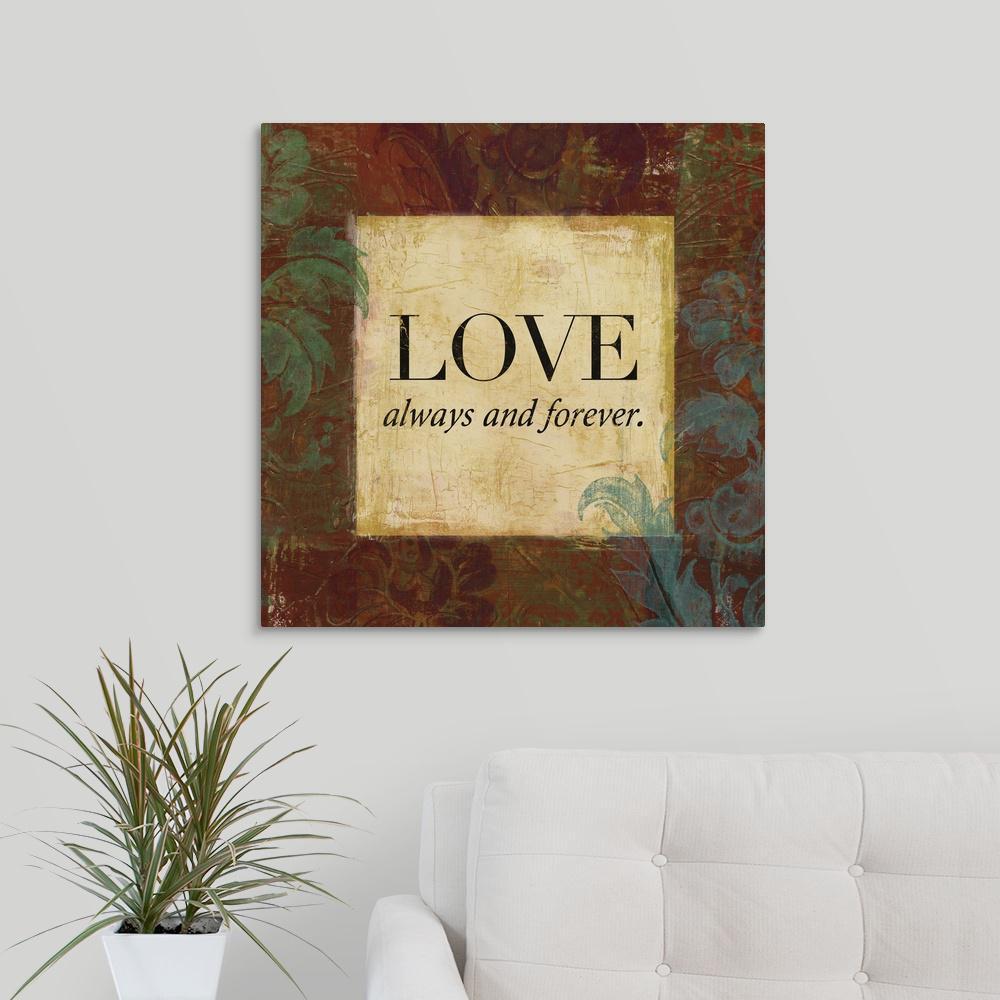 """""""Love and Faith I"""" by  Lucas Hunter Canvas Wall Art"""