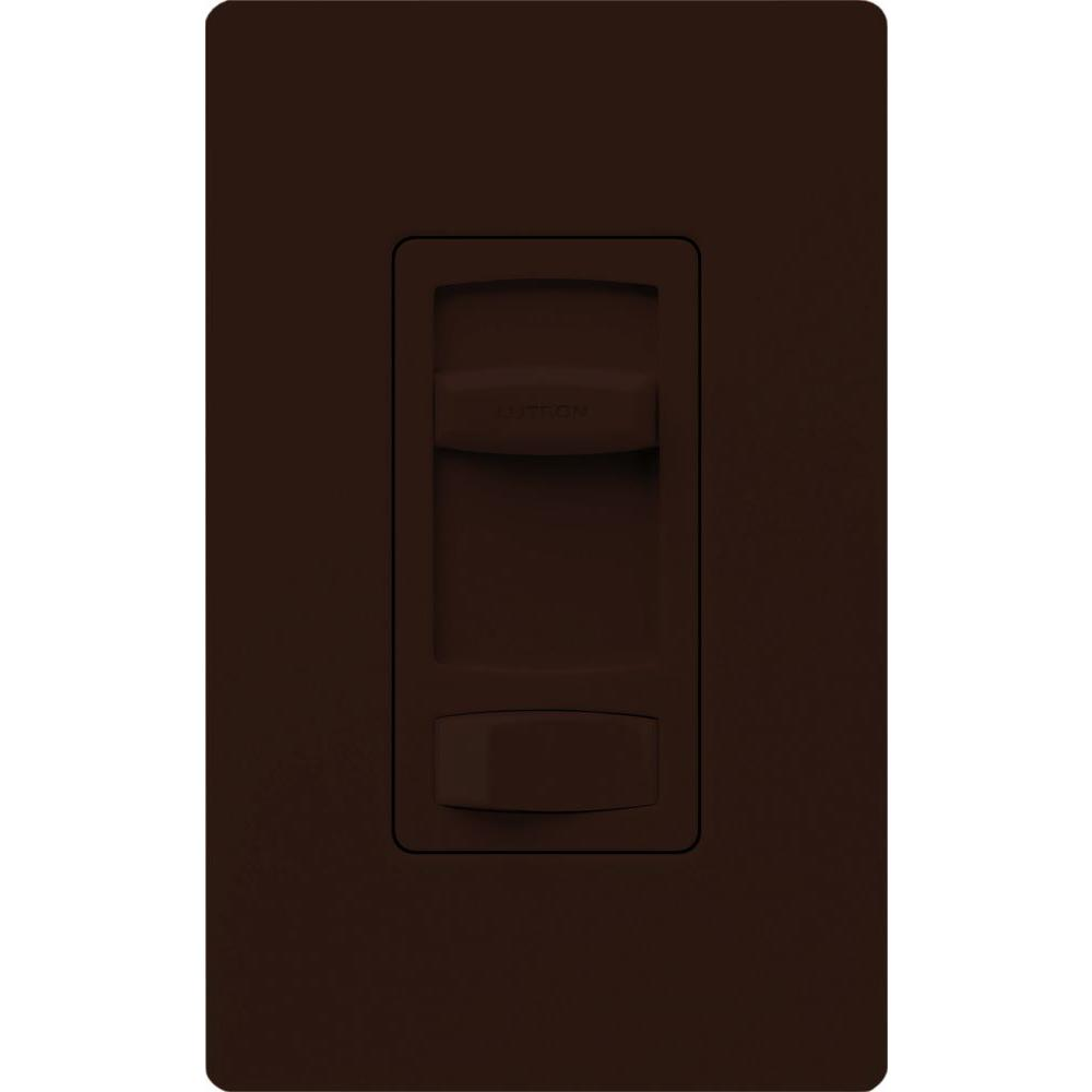 Lutron Skylark Contour 1.5-Amp Single-Pole/3-Way Quiet 3-Speed Slide-to-Off Fan Control - Brown